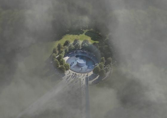 Daan Roosegaarde will ein Pekinger Park vom Smog befreien – mit einem Luftfilter, der ein 60 Meter großes Frischluftloch schafft. Den Ruß will der Künstler komprimieren und zu Schmuck verarbeiten.