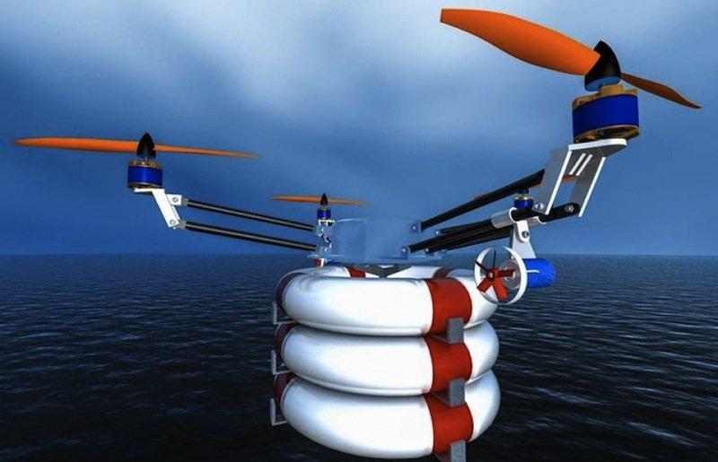 Die Akkus der Drohne reichen für zehn Minuten Flug. In dieser Zeit legt das Fluggerät rund 4,5 Kilometer zurück.