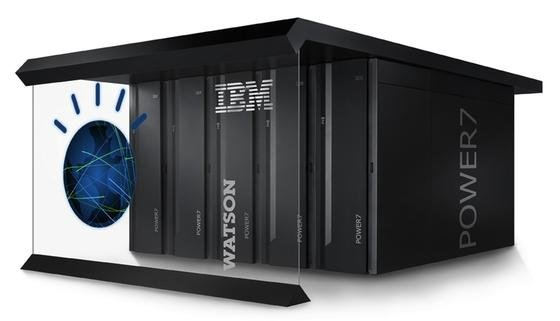 Das ist Watson: Der Supercomputer von IBMist ein Rechnerverbund aus 90 Power 750 Servern mit 16 Terrabyte RAM. Jeder einzelne Server besitzt einen Power7-Prozessor mit acht Kernen und einer Taktung von 3,5 Gigahertz.
