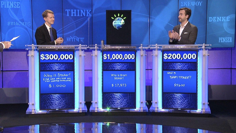 Watson zu Gast in der Fernsehshow Jeopardy: Gegen den Supercomputer hatten die Kandidaten keine Chance.