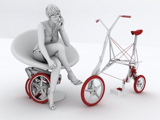 Der Rahmen des Faltrads ist aus Aluminium oder Magnesium gefertigt. In Zukunft könnte Graphen als Baumaterial das Bike Intermodal noch leichter machen.