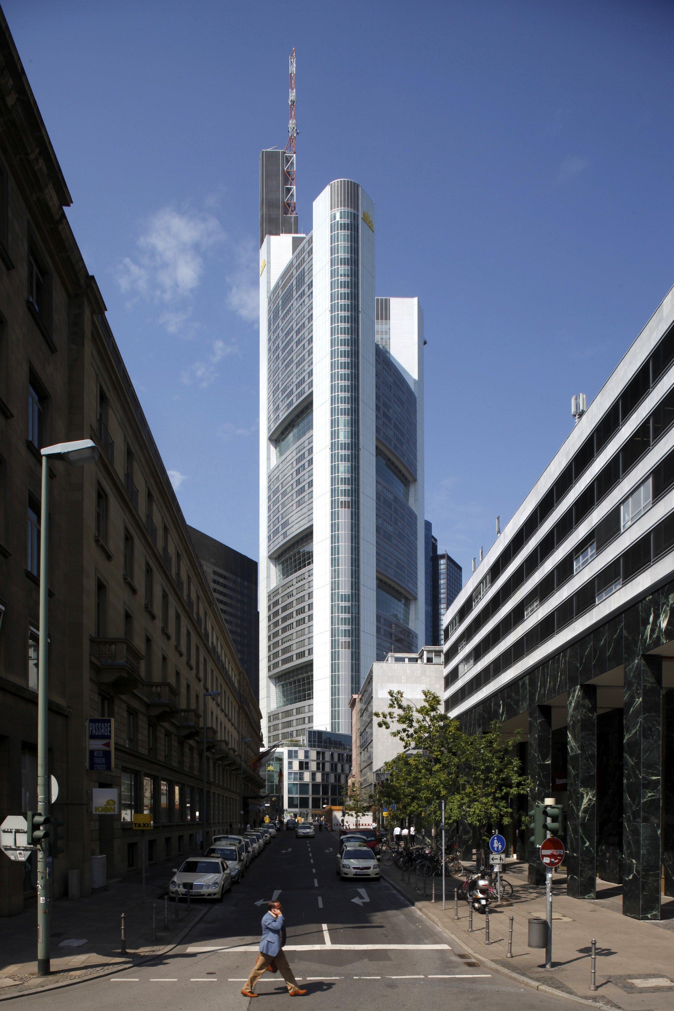 Das mit 259 Metern höchste Haus Deutschlands: der Commerzbank-Tower in Frankfurt.