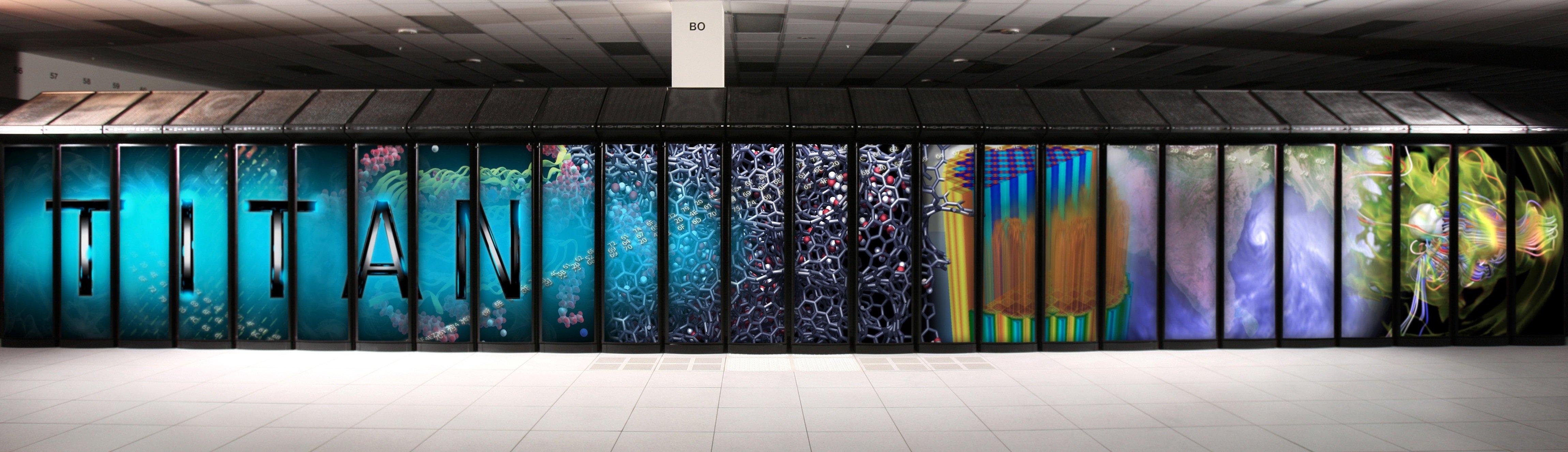 Imposantes Bild: der amerikanische Supercomputer Titan. Jetzt wollen die USA für 325 Millionen US-Dollar zwei neue Supercomputer bauen, die den chinesischen RekordhalterTianhe-2 ablösen sollen.