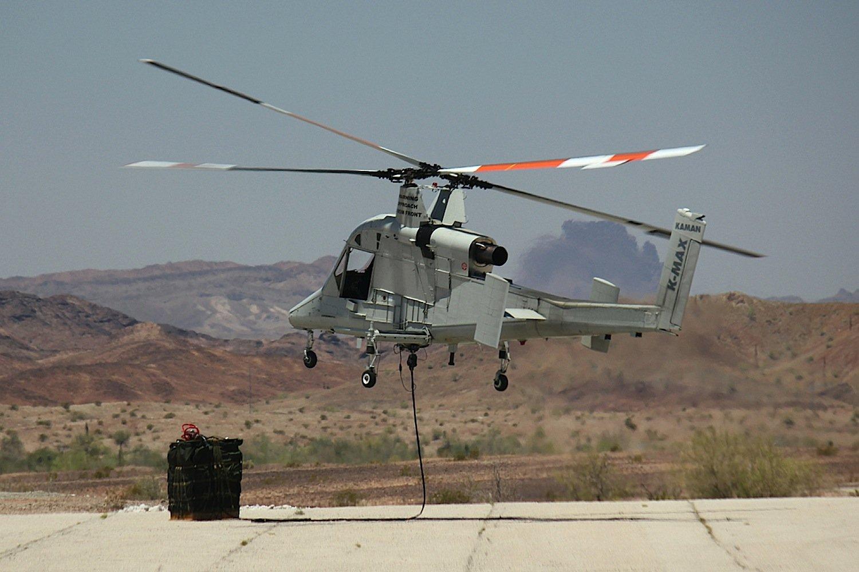 Zwischen 2011 und 2014 übernahm K-MAX Transportaufgaben im Afghanistan-Krieg. Jetzt soll der unbemannte Helikopter Brände löschen und Menschen aus Gefahrensituationen befreien.