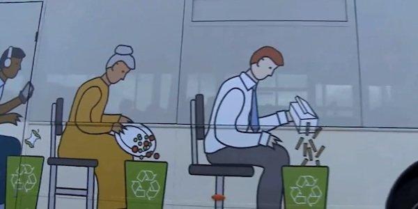Auch Lebensmittelreste werden für das Biogas verwertet, mit dem der Poo-Bus angetrieben wird.