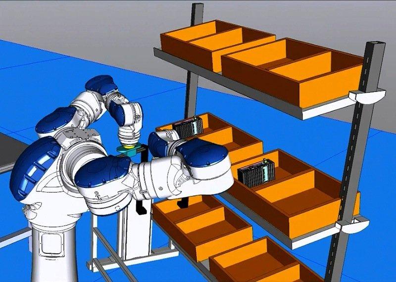 Mit der Software Technomatix lassen sich Fertigungslinien und Roboter virtuell auf den Prüfstand stellen, ebenso die Belastung der Arbeiter.