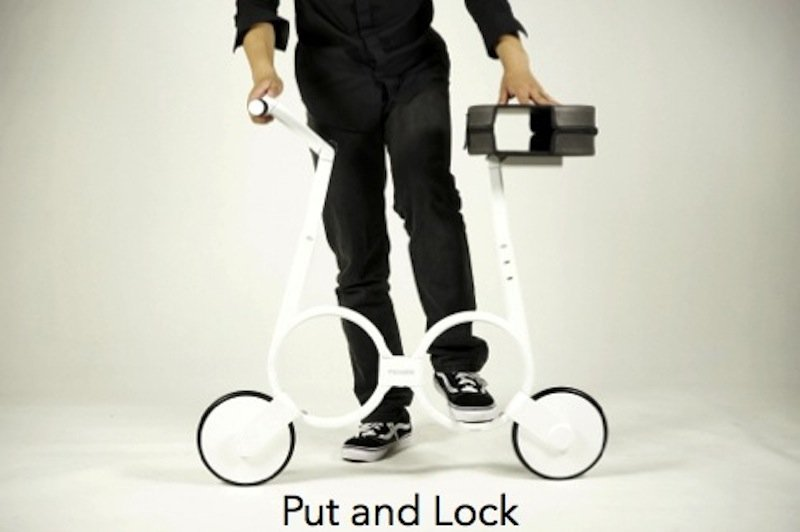 Das Impossible-Bike hat einen besonders leichten Rahmen ausFaserverbundwerkstoff.