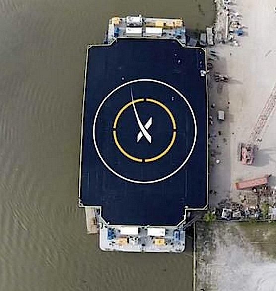 SpaceX lässt für die Landung derzeit diese schwimmende Plattform bauen. Ihre autonome Steuerung hält sie auch bei Sturm auf Kurs –auf drei Meter genau.
