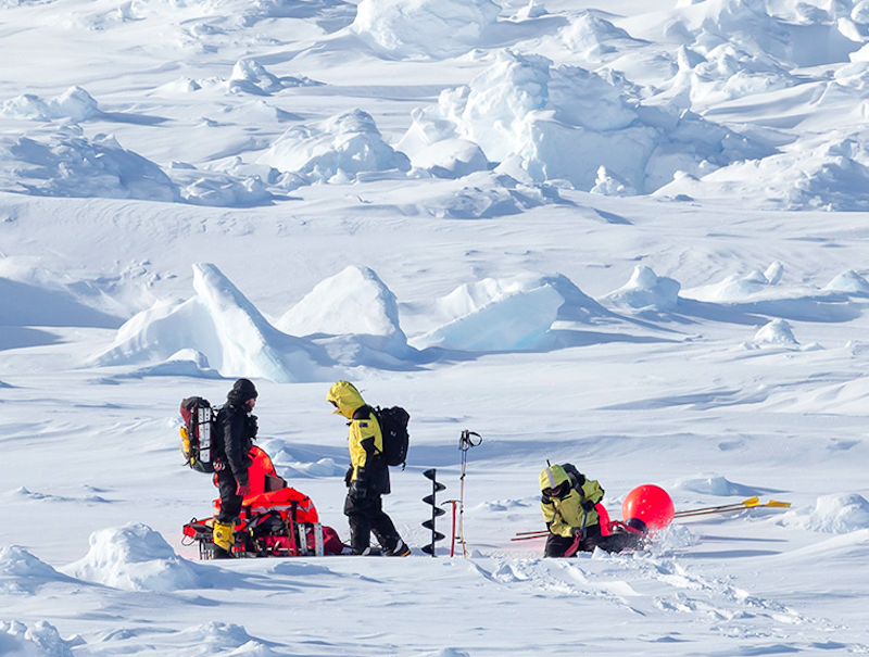 Einsatzgebiet der Forscher war die riesige Eislandschaft der Bellingshausen-See. Ihre Erkenntnis: Das Eis ist dicker als bisher angenommen.