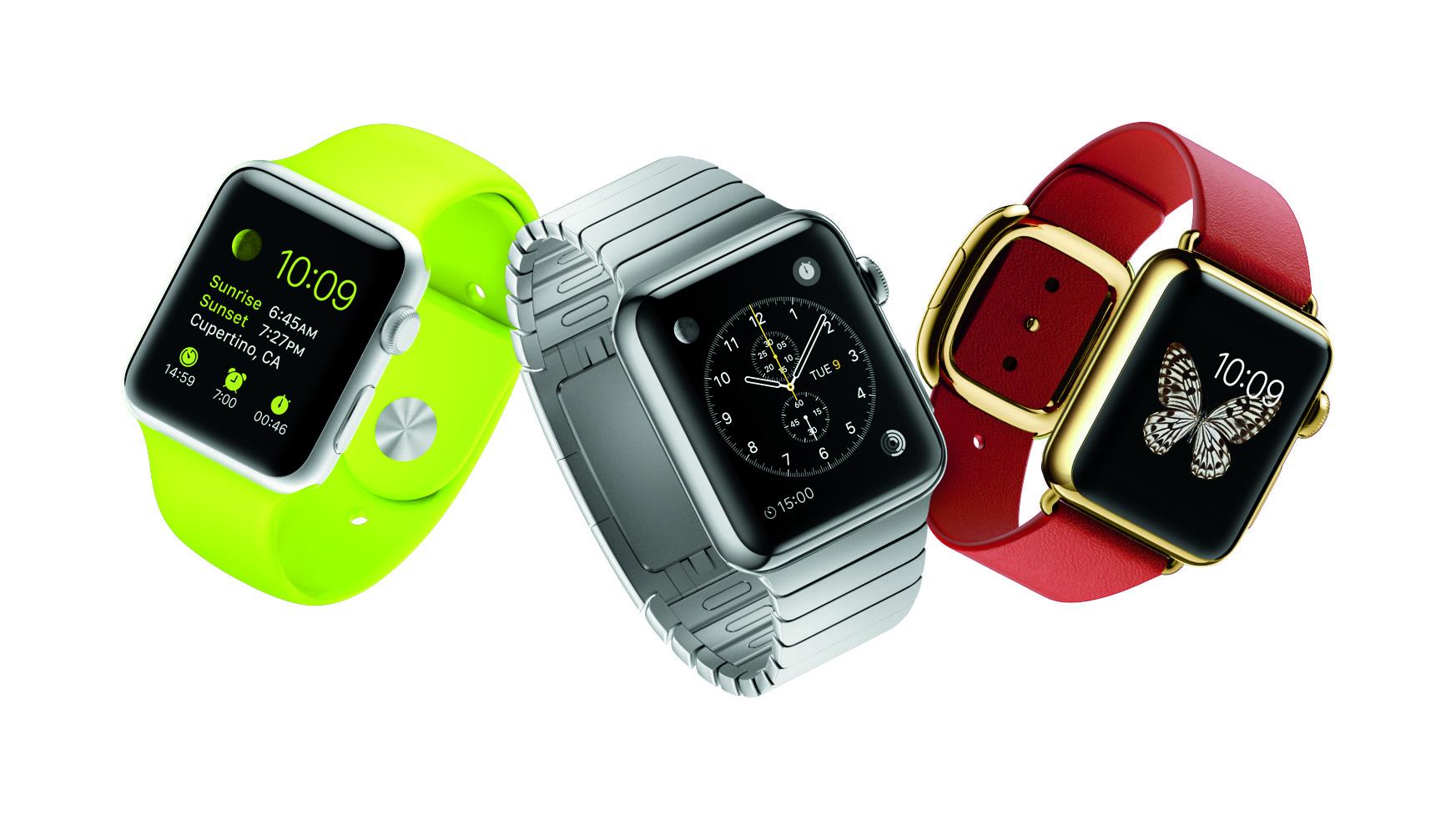 """Apple setzt mit seinem schlicht """"Watch"""" genannten Gerät, das 2015 auf den Markt kommt, ganz auf klassisches Uhrendesign."""