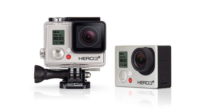 Action-Cams von GoPro. Hier das Modell Hero 3+. Die Kamera zeichnet in Full HD auf und ist bis zu einer Wassertiefe von 40 Metern sicher zu benutzen.