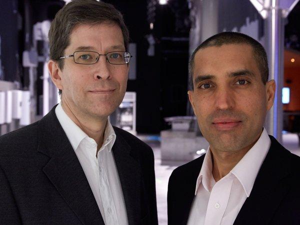 Die LTE-Spezialisten Stefan Parkvall und Muhammad Kazmi.