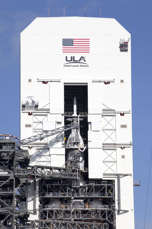 Die neue Raumkapsel Orion der NASA mit einer Rakete des Typs Delta IV Heavy in Cape Canaveral in Florida: Das Startfenster am Donnerstag beträgt nur zwei Stunden und 39 Minuten.