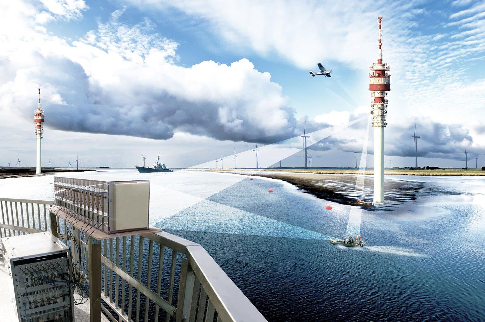 Fraunhofer-Forscher aus Bonn haben ein System entwickelt, das Mobilfunksignale entlang der Küsten nutzt, um beispielsweise Piratenboote frühzeitig zu erkennen.