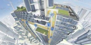 Neuartiger Aufzug von ThyssenKrupp fährt auch waagerecht