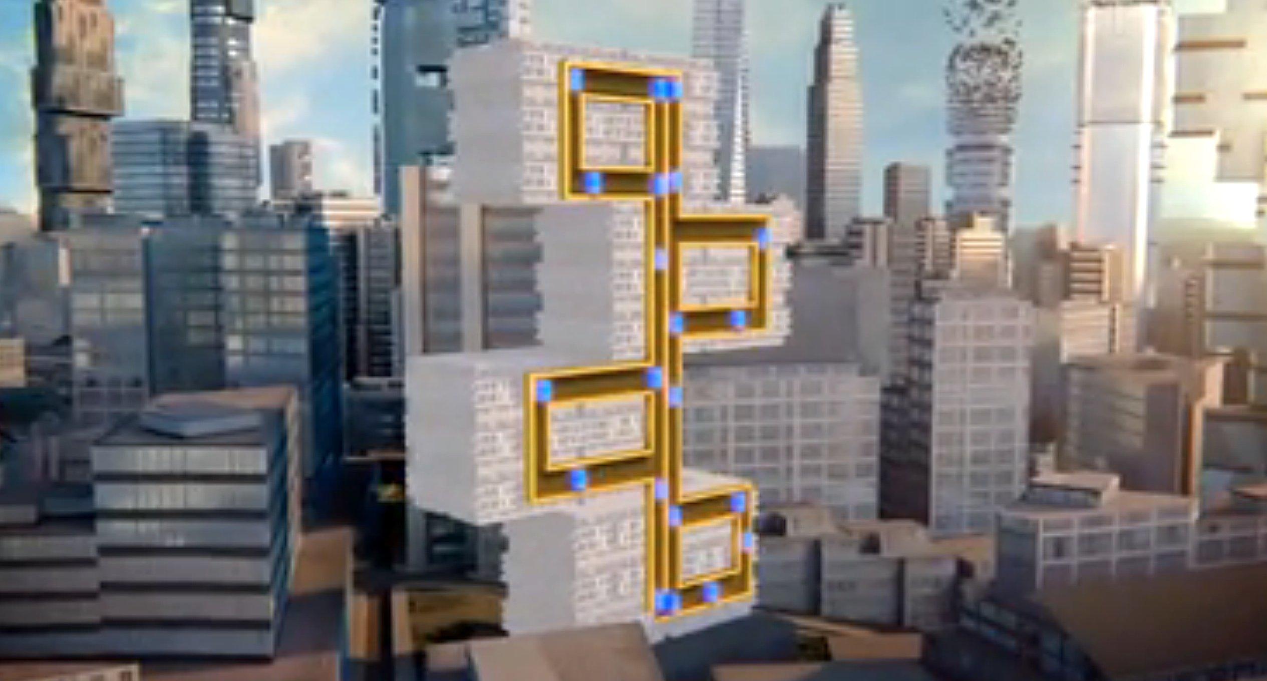 Das neuartige Aufzugssystem kann auch entlegene Teile in einem Hochhaus erschließen, weil es auch waagerecht fahren kann.