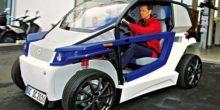 Elektrisch angetriebener StreetScooter im 3D-Drucker hergestellt