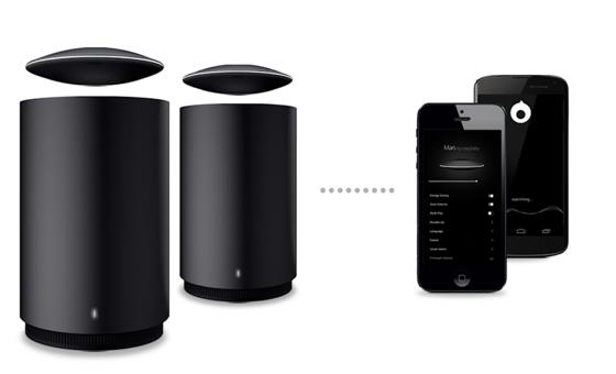 Mars verbindet sich über Bluetooth mit dem Smartphone. Der Lautsprecher erkennt, wenn sich das Smartphone entfernt und erhöht auf Wunsch automatisch die Lautstärke.