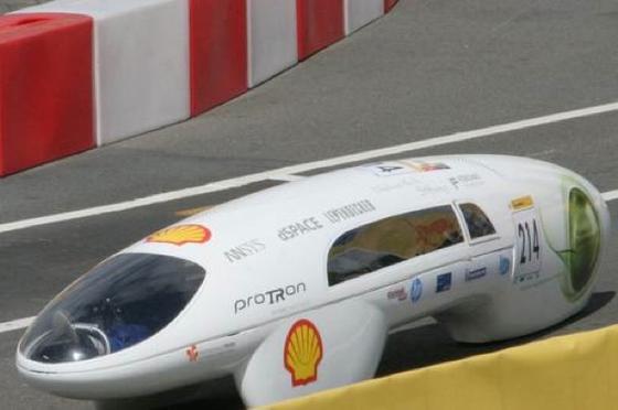 Gleich mit zwei Wagen machte die Hochschule Trier beim Shell Eco-Marathon mit, einer davon der ProTRon.