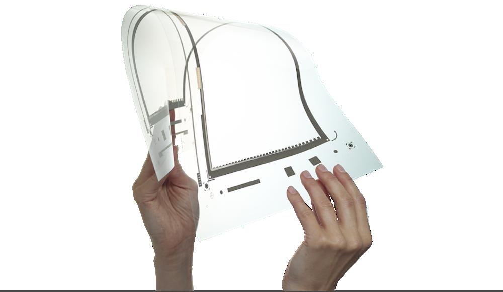 Die in Finnland entwickelte Folie ist ausgesprochen flexible und eignet sich als Display.