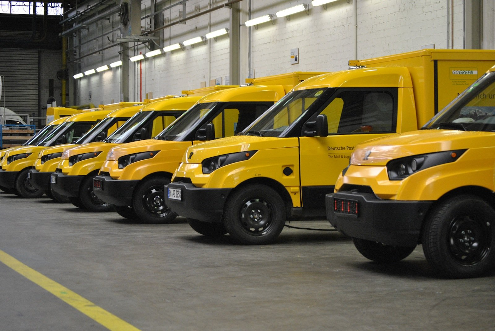 Vorserienproduktion: Die Zustellfahrzeuge mit Elektroantrieb wurden in Aachen bei der Talbot Services GmbH gebaut.