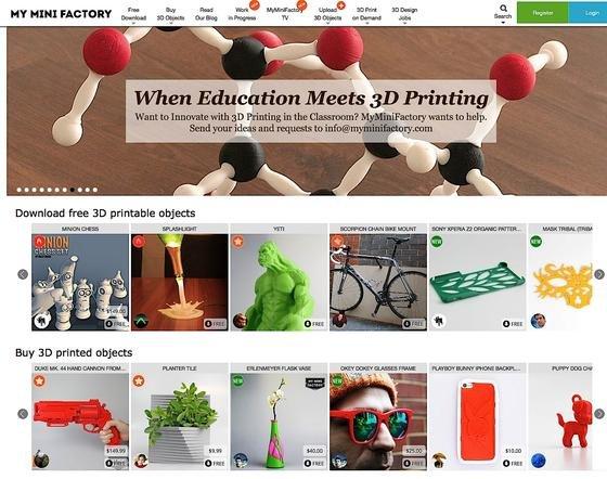Der DruckerherstelleriMakr betreibt im Internet das Portal MyMiniFactory, auf dem Designer Produkte anbieten, die man sich herunterladen und bei der britischen Post ausdrucken lassen kann.