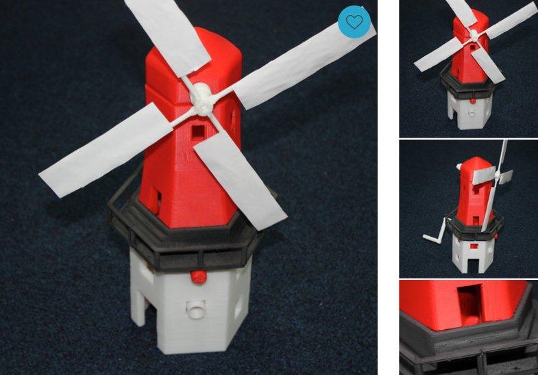 Windmühle aus dem 3D-Drucker: Die Produkte, die man sich bei der Royal Mail ausdrucken lassen kann, haben teilweise das Niveau des Plastikspielzeugs aus dem Kaugummi-Automaten.