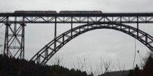 Höchste Eisenbahnbrücke Deutschlands ist wieder befahrbar