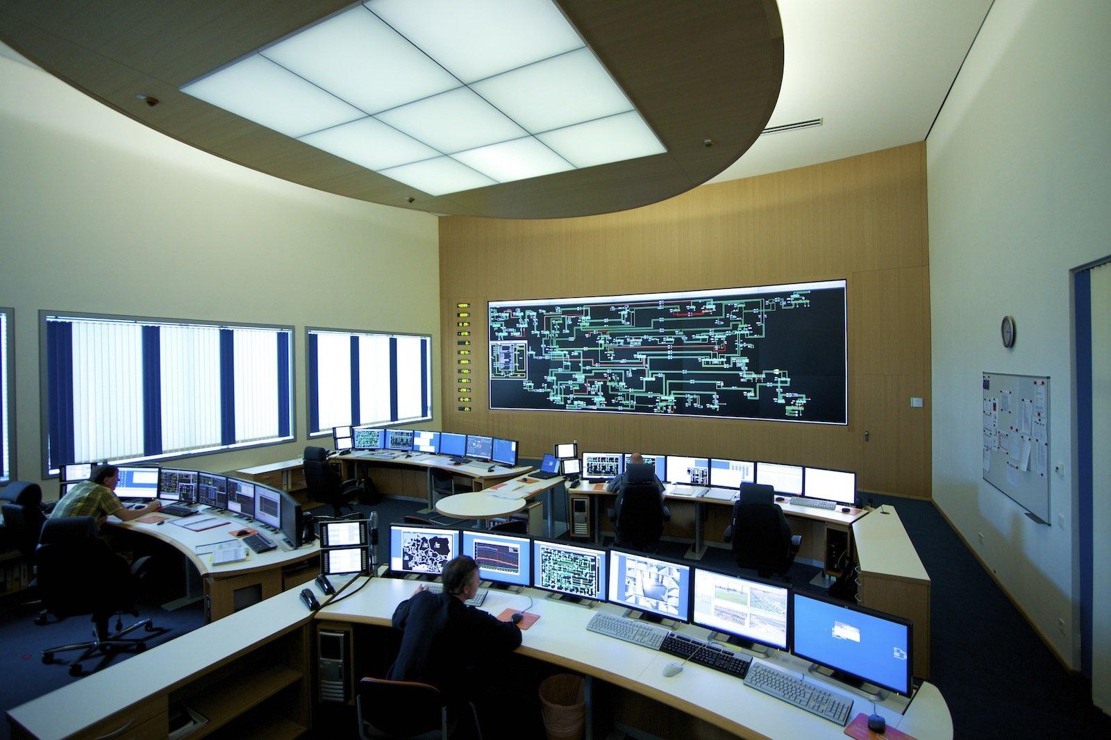 Das Transmission Control Centre in Neuenhagen.