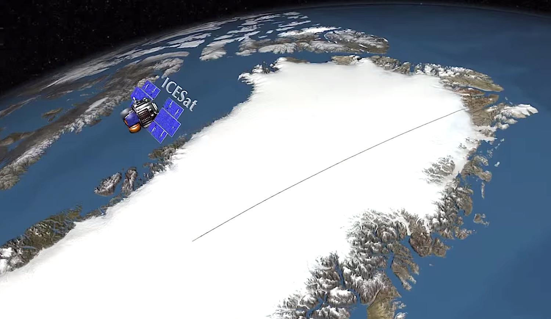 Die Forscher werteten Satellitendaten der NASA-Mission ICESat aus, um sich ein Bild über die Geschwindigkeit der Eisschmelze zu machen.