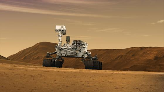 Curiosity ist während seiner Entdeckungsfahrt entlang des Gale-Kraters auf hohe Methankonzentrationen gestoßen. Die Quelle ist den Forschern bislang unbekannt.