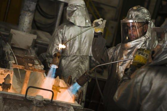 Aluminiumherstellung bei Hydro.