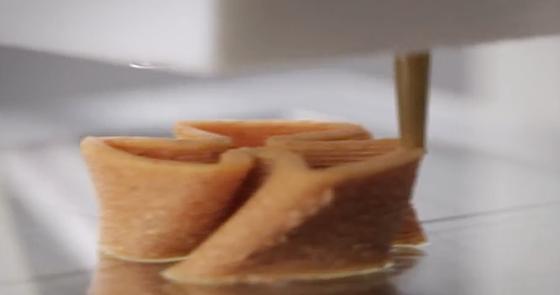 Die Vision: Restaurants sollen mit dem 3-D-Nudeldrucker Pasta-Kreationen nach Wunsch herstellen, etwa herzförmige Nudeln zum Hochzeitstag. Erste Testgeräte sind bereits im Einsatz.