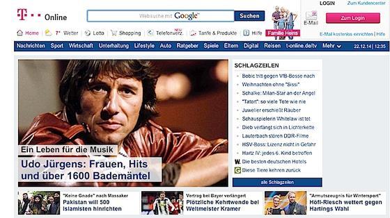 Das Internetportal T-Online zählt zu denreichweitenstärksten Webauftritten im deutschsprachigen Internet.