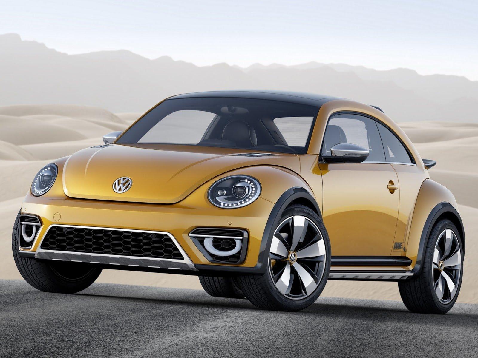 VW präsentiert auf der Detroit Motor Show den Standkäfer Dune. Das Auto soll 2015 in Serie gehen.