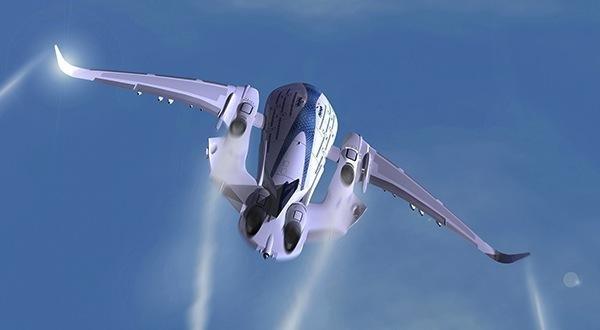"""Konzeptflugzeug: Dreigeschossiger """"Sky Whale"""" für 755 Passagiere"""