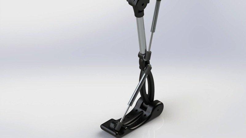 Das Roboleg lässt sich mit zwei pneumatischen Pumpen bewegen. Die Montageanleitung ist kostenfrei im Internet verfügbar.