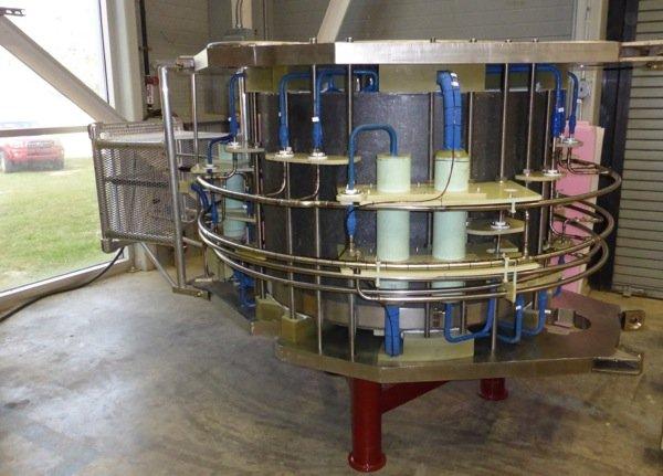 So sieht die supraleitende Spule des neuen Hochfeldmagneten aus.