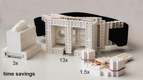 Je größer die Modelle, desto mehr Zeit lässt sich beim 3D-Druck mit dem neuen faBrickation-Verfahren sparen.