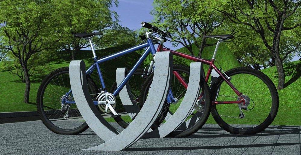 Aus Karbonbeton lassen sich viel schlankere Bauteile konstruieren, die aber genauso stabil sind wie Stahlbeton. Im Bild ein Fahrradständer aus Karbonbeton, den der DesignerRichard Huber aus Jena entwickelt hat.