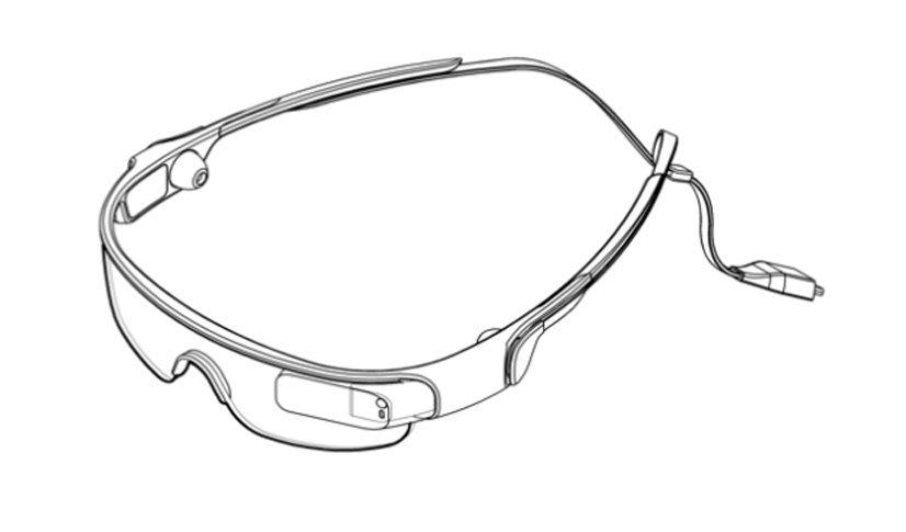 Skizze der Samsung-Brille