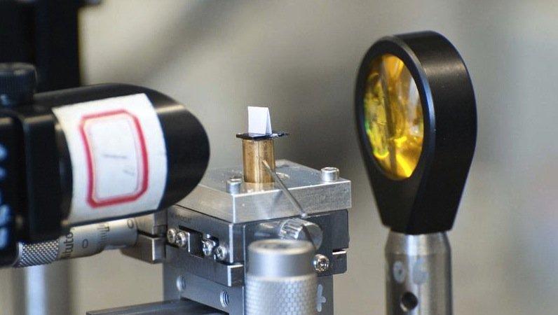 Der Quantenkaskadenlaser kann dieSignatur von Pilzgiftstoffen im Infrarotbereich erfassen.Ein tragbares Testgerät soll diese später in Mais und Weizen schon während des Mahlprozesses in der Mühle entdecken können.
