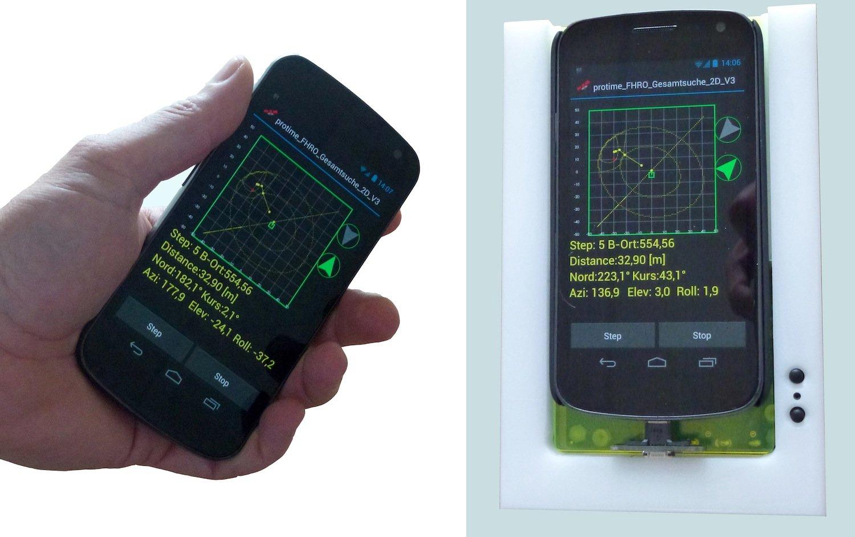 Mit zusätzlicher Hardware und der LawinenFon-App wird ein normales Smartphone zum Lawinensuchgerät. Es kann zum einen genaue Positionsdaten verschicken, umgekehrt aber auch Lawinenopfer finden.