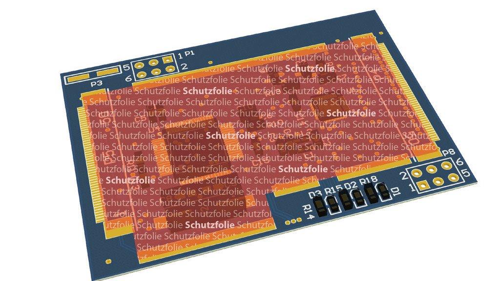 PEP-Folie für maximalen Schutz. Bei Beschädigung der Folie wird das elektronische Gerät funktionsunfähig.