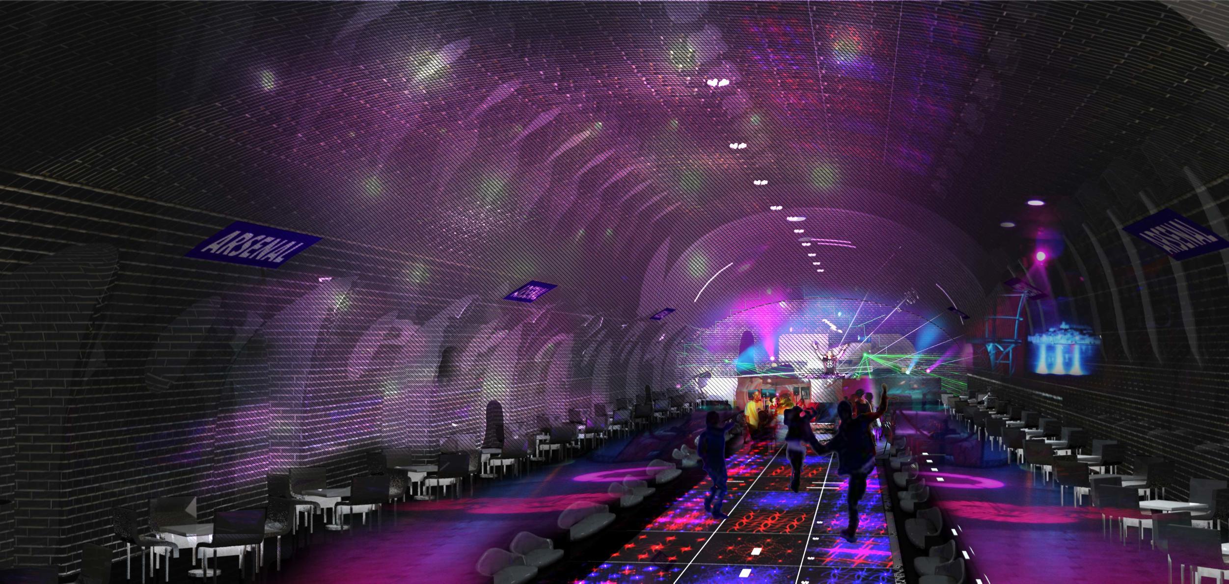 Wenn es nach den Architekten Manal Rachdi und Nicolas Laisné geht, könnte die Station auch zu einem Nachtclub werden.