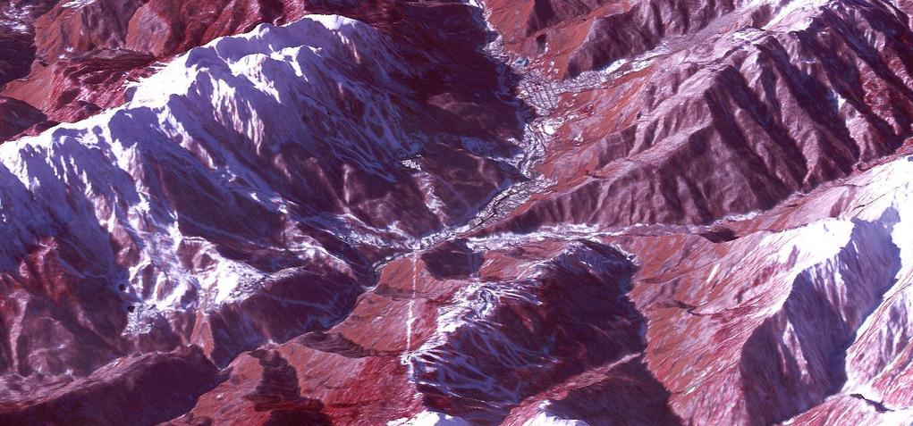 Diesen Ausblick auf die Skigebiete der Olympischen Spiele hat der NASA-Satellit Terra den Sportfans auf der Erde geschickt.