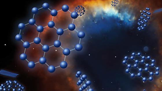 """Struktur von Graphen: Die Kohlenstoff-Verbindung gilt als """"Wundermaterial"""". Jetzt haben Luxemburger Forscher die Graphenstruktur erstmals aus klassischen Halbleitern nachgebaut."""