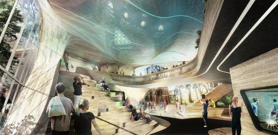 Im einem kühnen Entwurf gewann das Berliner Architekturbüro Graft den Architekturwettbewerb zur Neugestaltung der Stadtjugendherberge in München. Fließende Formen und die optische Verknüpfung mit der Welt sozialer Netzwerke kennzeichnen den Entwurf.