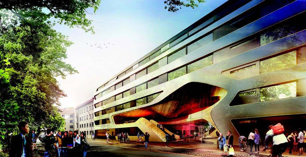 Die geschlossene Front der Jugendherberge aus dem Jahr 1929 wollen die Berliner Architekten Graft öffnen.