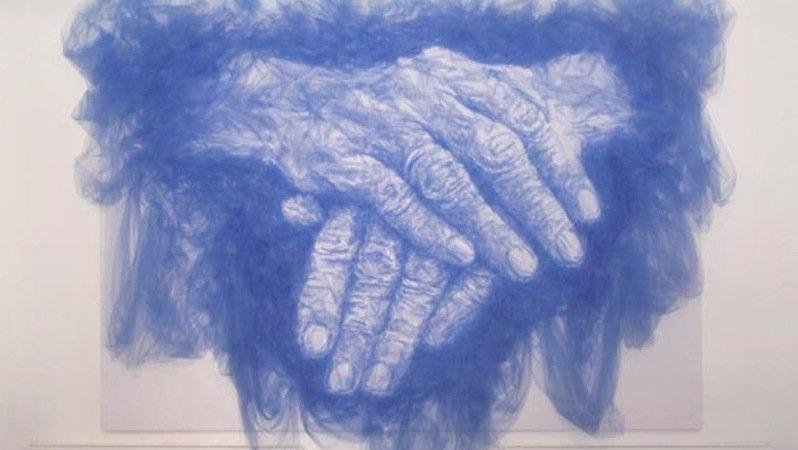 Für die London Design Week 2012 malte Shine das Bild Hands of Time mit einem Bügeleisen auf Tüllstoff. Für das 15 Quadratmeter große Bild verwendete er über 50 Meter Stoff.